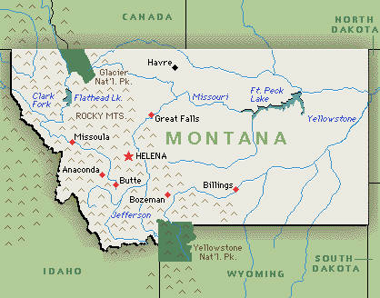 Waterton Park And Area Montana Travel Information - Montana on usa map